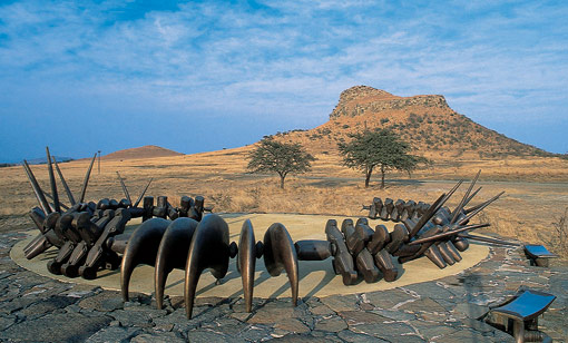 Zulu Memorial at the Isandlwana battlefield