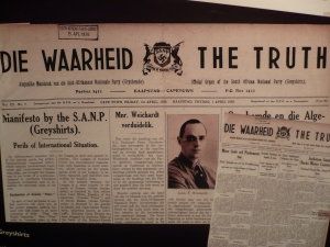 Louis Weichardt's South African National Party (SANP) newspaper from 1938