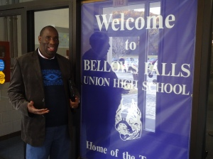 Dr. Chitja Twala at Bellows Falls Union High School in Vermont