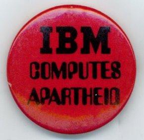 anti-apartheid button calling for a boycott during the apartheid era