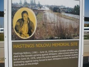 Memorial to Hastings Ndlovu in Soweto