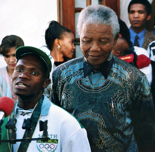 Penny Heyns And Nelson Mandela